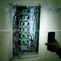 Fuse box in projection booth