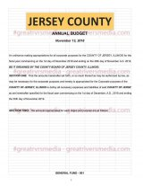 ONLINE! - Upcoming Jersey County Board Budget And Meeting Agenda