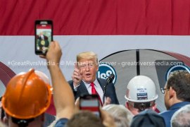 "360 Degree President Event Video From The ""Press Pen"""