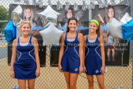 Jersey Tennis Recognizes Senior Girls & Gets Win Against Granite City