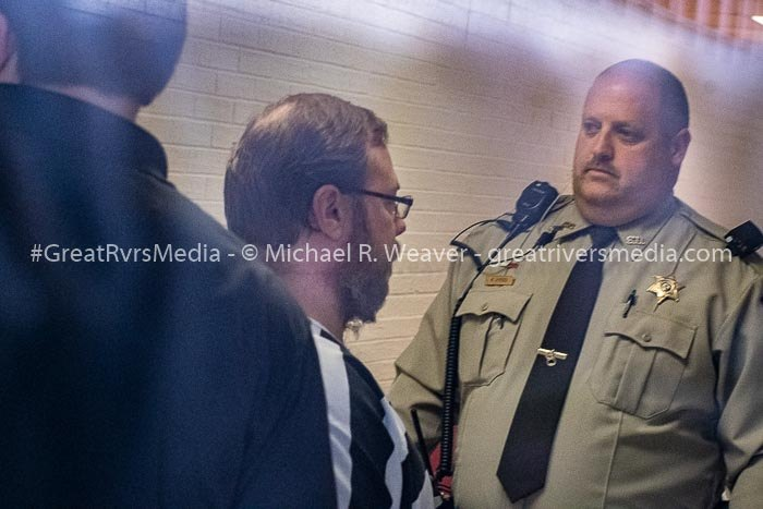 JERSEYVILLE - Michael Roberts is taken to sentencing for the 1st degree murder of his six year old son Liam Roberts before Circuit Judge Eric Pistorius on Wednesday, January 16, 2019. He received a 25 year sentence with 3 years of supervised release.