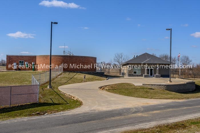 A view of the Jerseyville wastewater treatment plant.