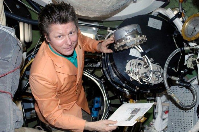 Russian cosmonaut Gennady Padalka in space