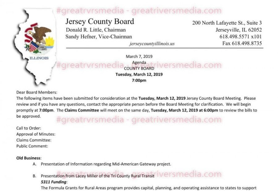 Jersey County Board Meets Tonight