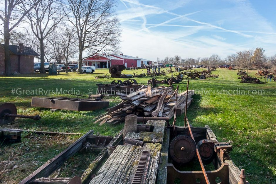 Acres of antique farm equipment was on display for sale at auction.