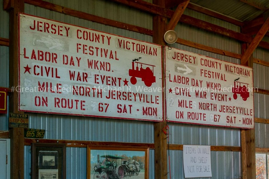 Signage from past Jerseyville Victorian Festivals.