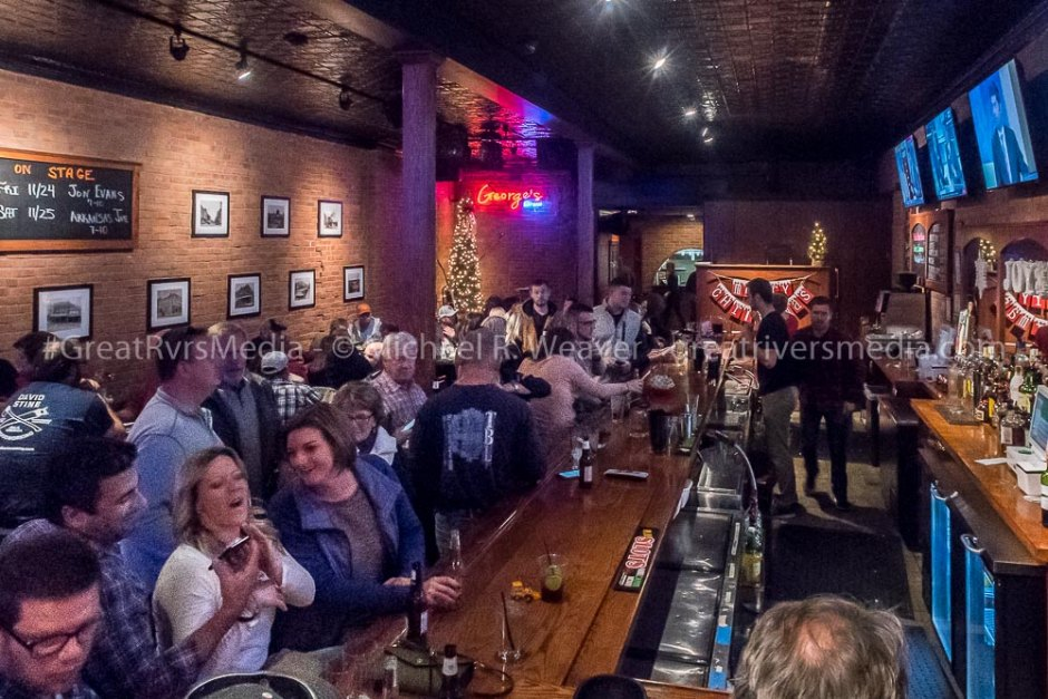 Guests filled George's Local Brew to capacity Saturday during the Country Christmas event.